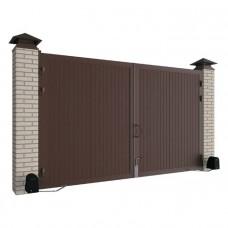 Комплект стандартных распашных ворот в алюминиевой раме 4660x2200