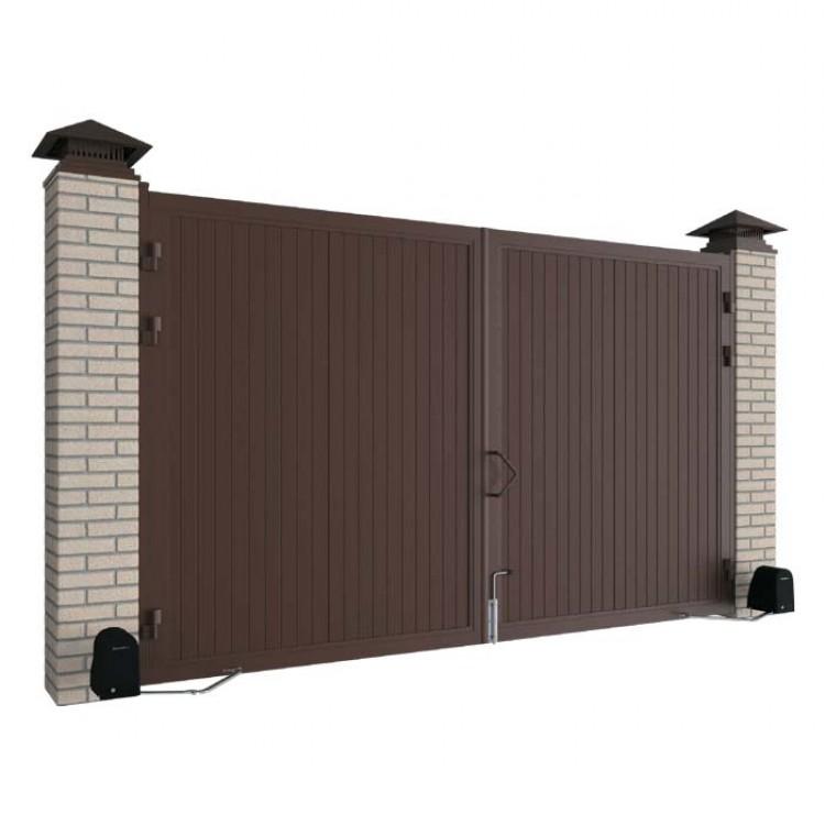 Комплект стандартных распашных ворот в алюминиевой раме 4660x2200 мм