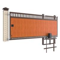 Комплект откатных ворот в алюминиевой раме с заполнением сэндвич-панелями SLG-A 3000x2000 мм