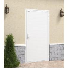 Гаражная дверь Ультра с обшивкой алюминиевым профилем