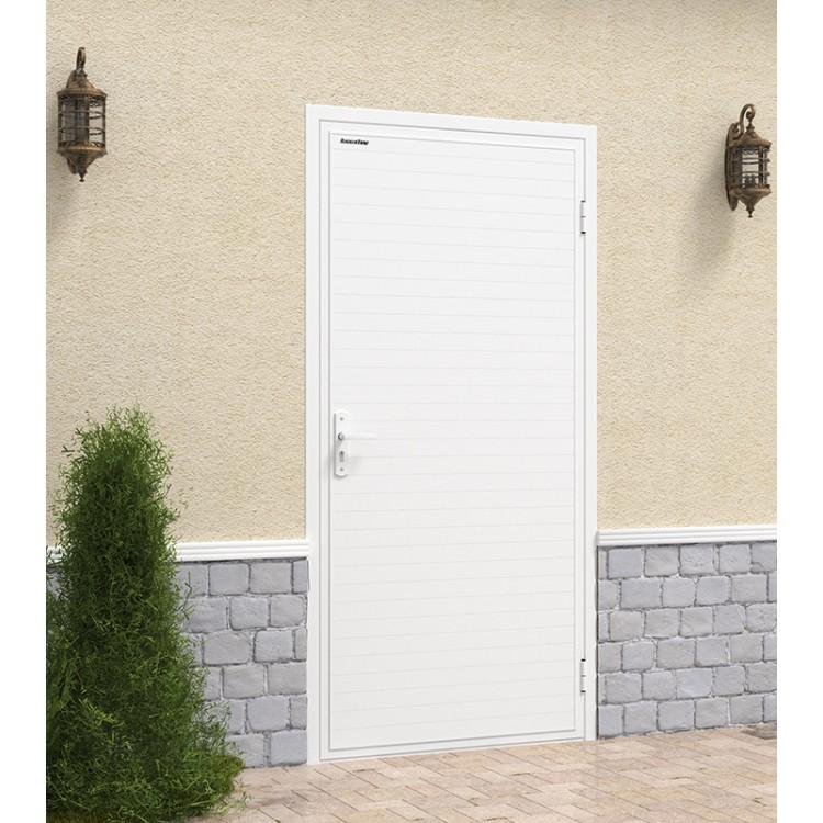 Дверь Дорхан гаражная Ультра с обшивкой алюминиевым профилем
