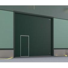 Ворота ISD01 3000x2500 мм с встроенной калиткой