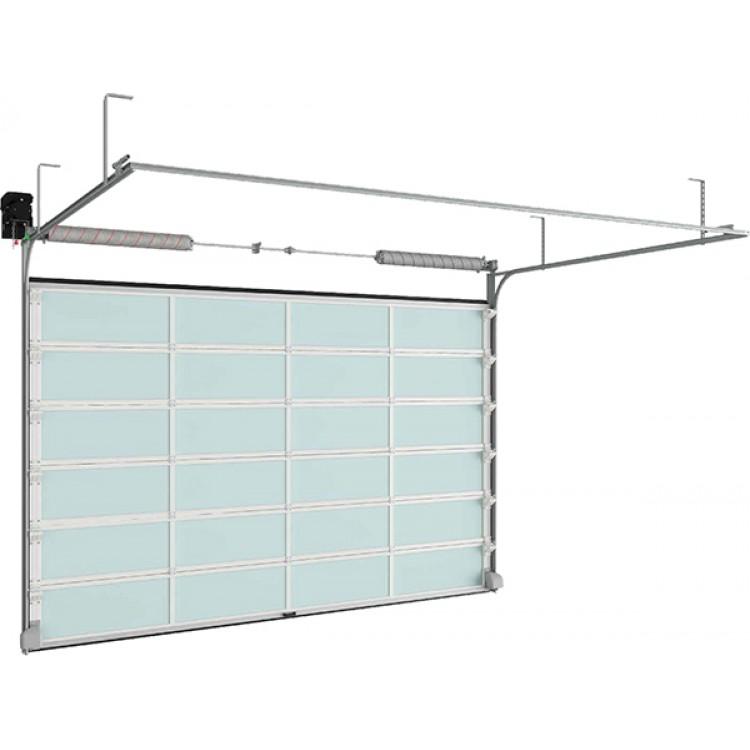 Панорамные секционные ворота ISD02 3000x2500 мм