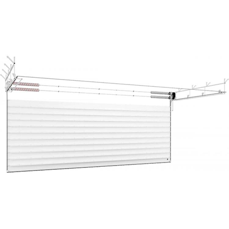 Ворота ISD03 из алюминиевых панелей 3000x2500 мм