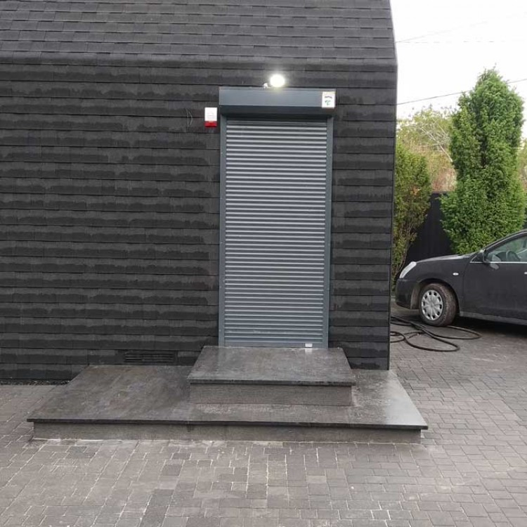 Рольставни на двери 1000x2000 мм из профиля RH45N