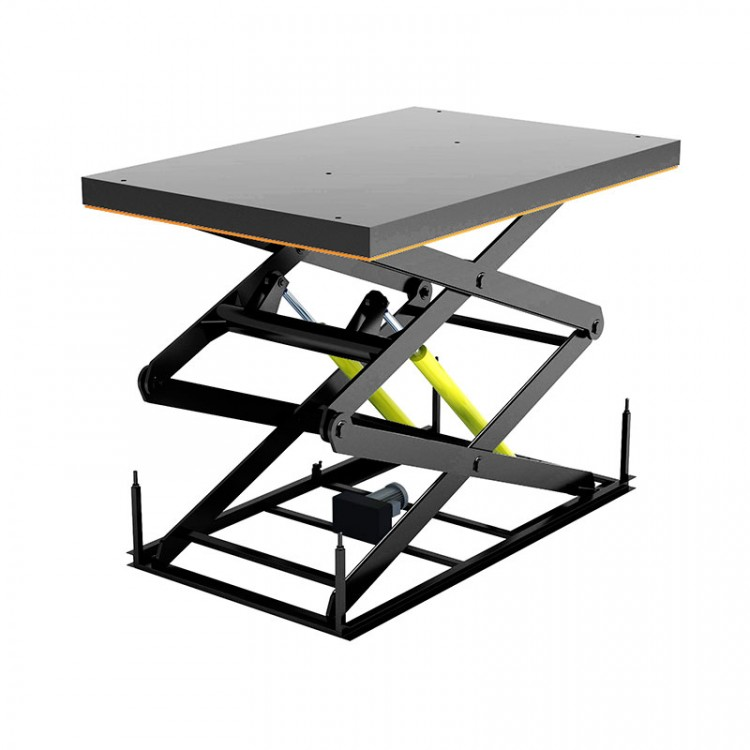 Гидравлический подъемный стол с двумя парами ножниц