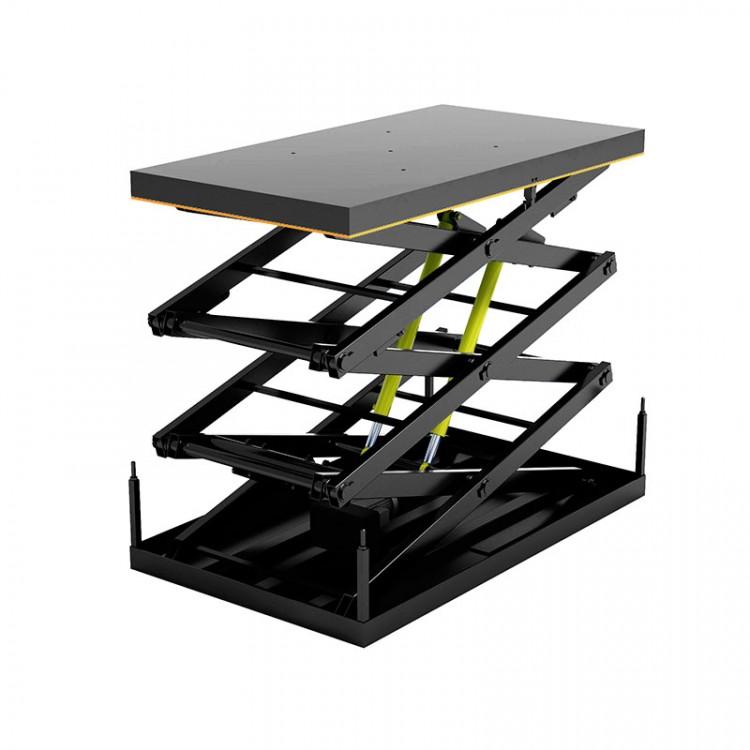 Гидравлический подъемный стол Дорхан с тремя парами ножниц