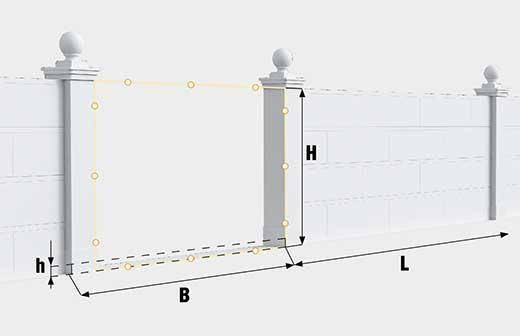 Как сделать замер откатных ворот